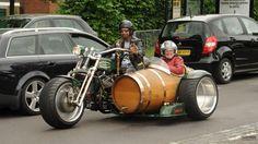 Motorcyle side-car barrel, courtesy of 505HarleyRumblers on Facebook
