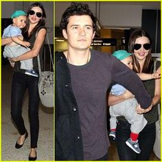 Miranda Kerr & Orlando Bloom: Flyin' with Flynn! Miranda Kerr flashes a smile as she carries her adorable son Flynn through the airport on Saturday (January 28) in Sydney, Australia.    The ...
