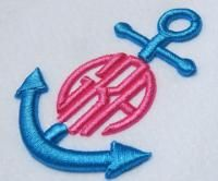 Anchor 3-D Puffy Frame Embroidery Designs | Apex Embroidery Designs, Monogram Fonts  Alphabets