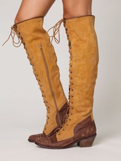 Joe Lace Up Boot - i really wish my calves were small enough to wear boots...