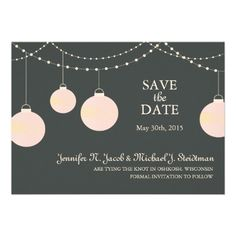 Paper Lantern Wedding Save the Date Personalized Announcement