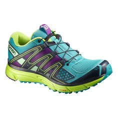 Salomon Women's X-Mission 3 Trail Running Shoe, Size: Teal Blue/Granny Green/Passion Purple Best Trail Running Shoes, Trail Shoes, Hiking Shoes, Hiking Gear, Running Everyday, Everyday Shoes, Baskets, Minimalist Shoes, Jeggings Outfit