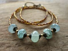 Rustic Blue Aquamarine Necklace everyday by ArtifactsEtCetera, $45.00