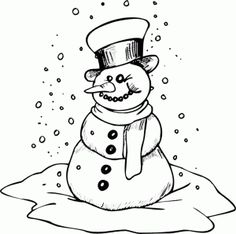 pizza slice magnet extralarge coloring page snowman