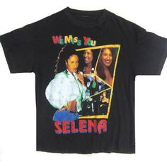Vintage Selena Quintanilla We Miss You T-Shirt as seen on Kylie Jenner