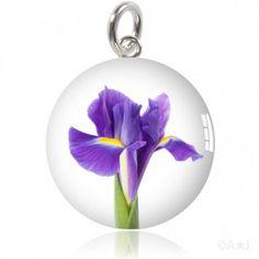 Purple Iris Meniscus Pendant