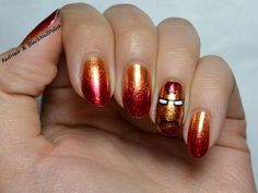 iron man nails, glitter , iron man, marvel , movie, avengers,nail , art, designs