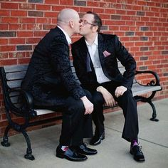Even before the official planning stages, Christopher and Kevin designed their event to be a celebration. Central to the wedding day was the momentous legal ruling for marriage equality in their home state.  They've accomplished a lot in the 12 years they