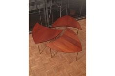 Peter Hvidt & Orla Molgaard Nielsen Model 523 Pinwheel Tables | Vinterior   #20thcentury #midcentury #modern