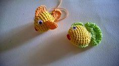 Buona sera!!!     Ho fatto 2 pesciolini che potranno essere utilizzati come portachiavi o abbellire un acquario in uncinetto, oppure un...