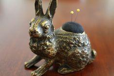Antique Pin Cushion Rabbit by B's Modern Quilting
