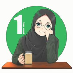 Image may contain: one or more people Fantasy Illustration, Cute Illustration, Anime Realistic, Anime Korea, Hijab Drawing, Islamic Cartoon, Hijab Cartoon, Girl Drawing Sketches, Bear Wallpaper