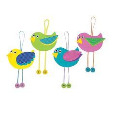 Spring Bird Ornament Craft Kit - OrientalTrading.com