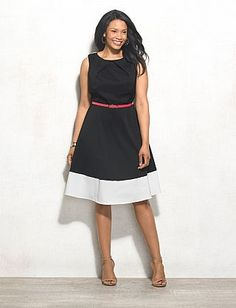 Db Signature Plus Size Darby Colorblock Dress   dressbarn