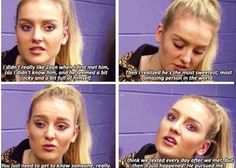 Perrie didn't like Zayn at first. How could you not like him? She's a dumb bitch for not liking him at first.