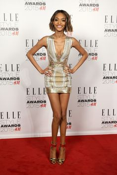 Pin for Later: What Would the Elle Style Awards Be Without Some Killer Outfits? Jourdan Dunn Jourdan later changed into an equally as sexy gold minidress. World Most Beautiful Woman, Gorgeous Women, Daily Fashion, Fashion Beauty, Female Fashion, Fashion Weeks, Milan Fashion, Women's Fashion, Fashion Trends