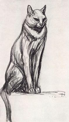 Cat by Steinlen | by ElfGoblin