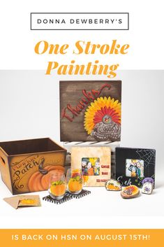 Get holiday kits featuring Donna Dewberry's One Stroke Method of painting on HSN, Aug. 15th. Click to be taken to the HSN Donna Dewberry store.