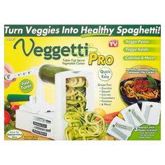 Free Shipping on orders over $35. Buy As Seen on TV Veggetti Pro at Walmart.com