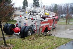 View full sizeReader Mike Hersh submitted this photo, showing what happens when a fire truck loses its rear set of tires while driving down a street. This South Euclid ladder truck was heading down Wrenford Road April 4 when...