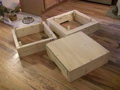 BYO Stacking Plyometric Boxes, unstacked
