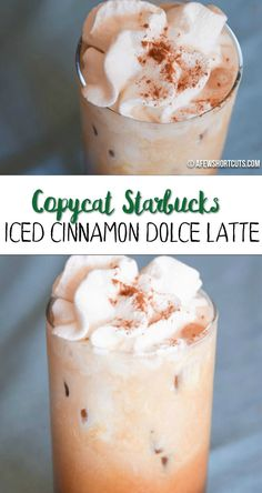 Super easy Starbucks Copycat Iced Cinnamon Dolce Latte made with my Keurig brewer- YUM!