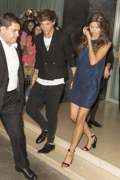 Louis Tomlinson - Louis Tomlinson and His Girlfriend at Their London Hotel