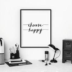 Typographie affiche murale impression par TheMotivatedType sur Etsy