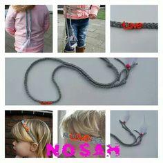 Haarband/riem van www.nosah.nl