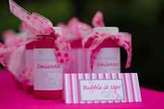 """Two year old """"bubble"""" birthday... totally copying this, though I was thinking of a bird theme... Bubbles and Brunch, though! So lovely!"""