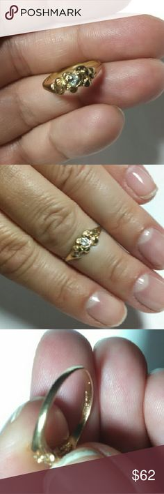 14k solid gold diamond nugget ring Solid 14k yellow gold with one round natural diamond approx .10ct 3mm round. Size 5. 1.4g  Selling at today's gold spot price so price is FIRM.   Basically that means that this is the price (including Posh's fee) that I will get scrapping it for the gemstone(s) with my diamond dealer and for the gold at my county refinery. But this piece of jewelry is NOT scrap, it is a lovely ring that needs a new home so it won't get melted down this week.  Price cheaper…