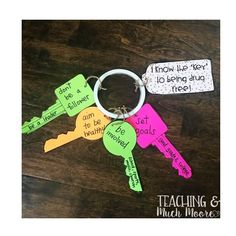 Red Ribbon Week Drug Free Craft by victoria moore Drug Free Week, Key Crafts, Red Ribbon Week, Classroom Design, Classroom Ideas, Study Skills, Free Activities, Good Grades, School Counselor