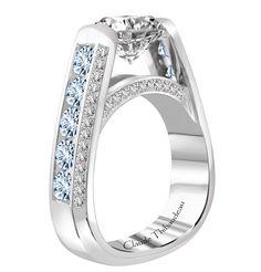 Claude Thibaudeau Montreal Glacier Blue diamond engagement ring | JCK On Your Market