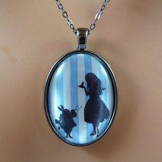 Alice in Wonderland Art Necklace