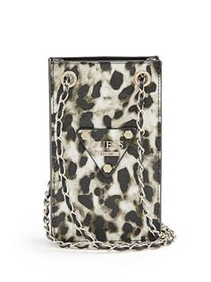 Keep your smartphone safe and in style with this covetable cross-body case. The luxe leopard print makes it perfect for on-the-go days or spontaneous nights out. GUESS