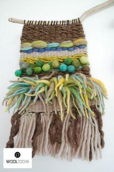Trio - Hand woven wall hanging // weaving // telar decorativo made by WooL LooM - www.facebook.com/WooLLooM