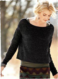 Madura Pima Lace Pullover