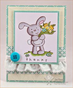 Your Next Stamp Fun Friday Challenge card by Jen featuring Cute Bunny with Flowers