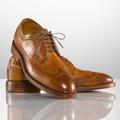 Sanderson Burnished Wingtip by #Ralph #Lauren