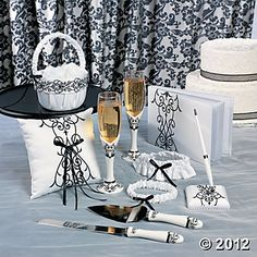 Black and White Wedding Set