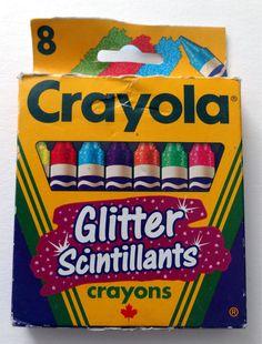 Discontinued  Canadian LE Crayola Crayons - 'Glitter'  #Crayola