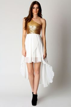 White and gold contrast #white boohoo.com