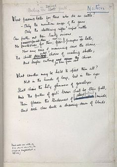 Wilfred owen my favourite poet books films music art pinterest original manuscript of owens anthem for doomed youth showing sassoons revisions fandeluxe Gallery