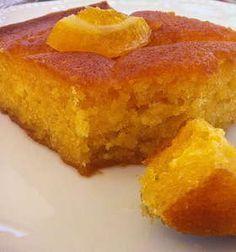Traditional Greek Yogurt Cake with Orange Syrup (Portokalopita)