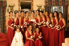 red wedding party photos | Red bridal party pictures 2