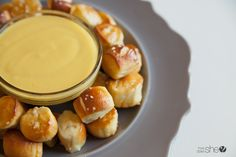 Try this fun twist on our favorite soft pretzels by making these Soft Pretzel Bites with the best EVER Honey Mustard Dip that will knock your socks off! No Cook Appetizers, Vegan Appetizers, Appetizer Dips, Appetizer Recipes, Pretzel Dip, Pretzel Bites, Honey Mustard Dip, Soft Pretzels, Honey Recipes