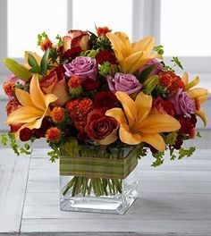 Fall Flower Arrangements | Fall Flower Arrangements, European Cube, Unusual Flowers, ... | recep ...