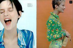 Vogue Italia January 1996, Pre Spring View, Ph. Steven Meisel, Models: Stella Tennant & Carolyn Murphy
