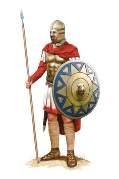 A member of the Domestici Equites, a Roman Imperial guard unit, Roman army during the Battle of Adrianople, 378 AD. Artwork by Tom Croft. Battle Of Adrianople, Byzantine Army, Anglo Saxon History, Romulus And Remus, Roman Era, Roman Soldiers, Samurai, Roman History, Medieval Armor