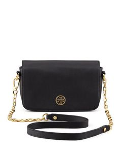 Robinson Mini Chain-Strap Bag, Black by Tory Burch at Neiman Marcus.